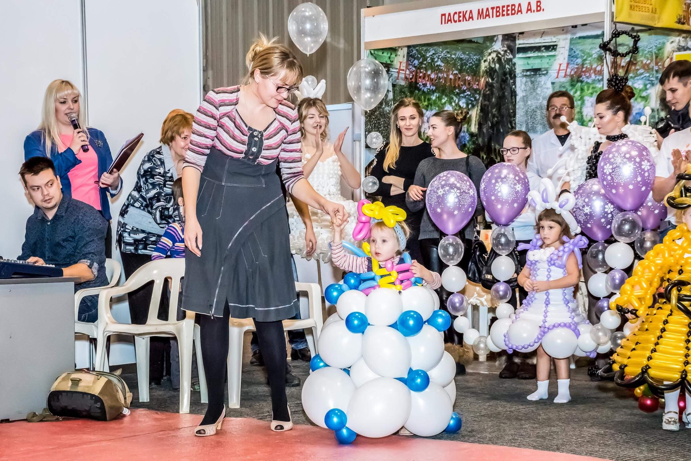 Конкурс «Платье из воздушных шаров»